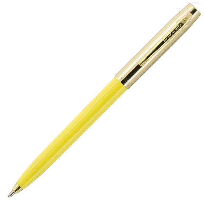 Fisher Space Pen Plastic Barrel Cap-O-Matic Yellow, Brass Cap