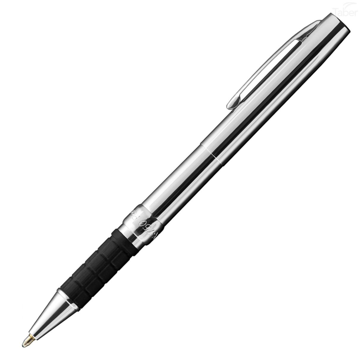 Fisher Chrome Space Pen w/ Rubber Finger Grip