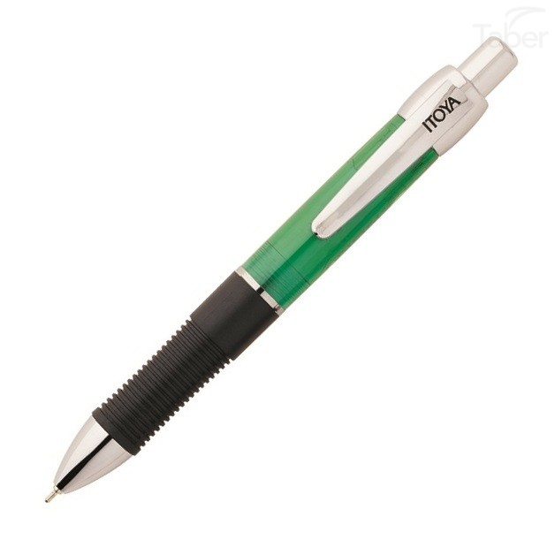 Itoya Xenon Retractable Pen with AquaRoller Med Point 1.0m, Emerald