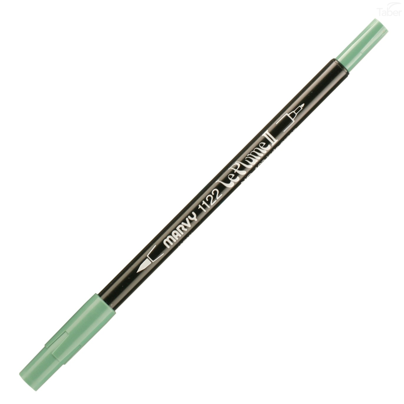 Marvy Le Plume II Double Ended Watercolor Marker, Jade Green