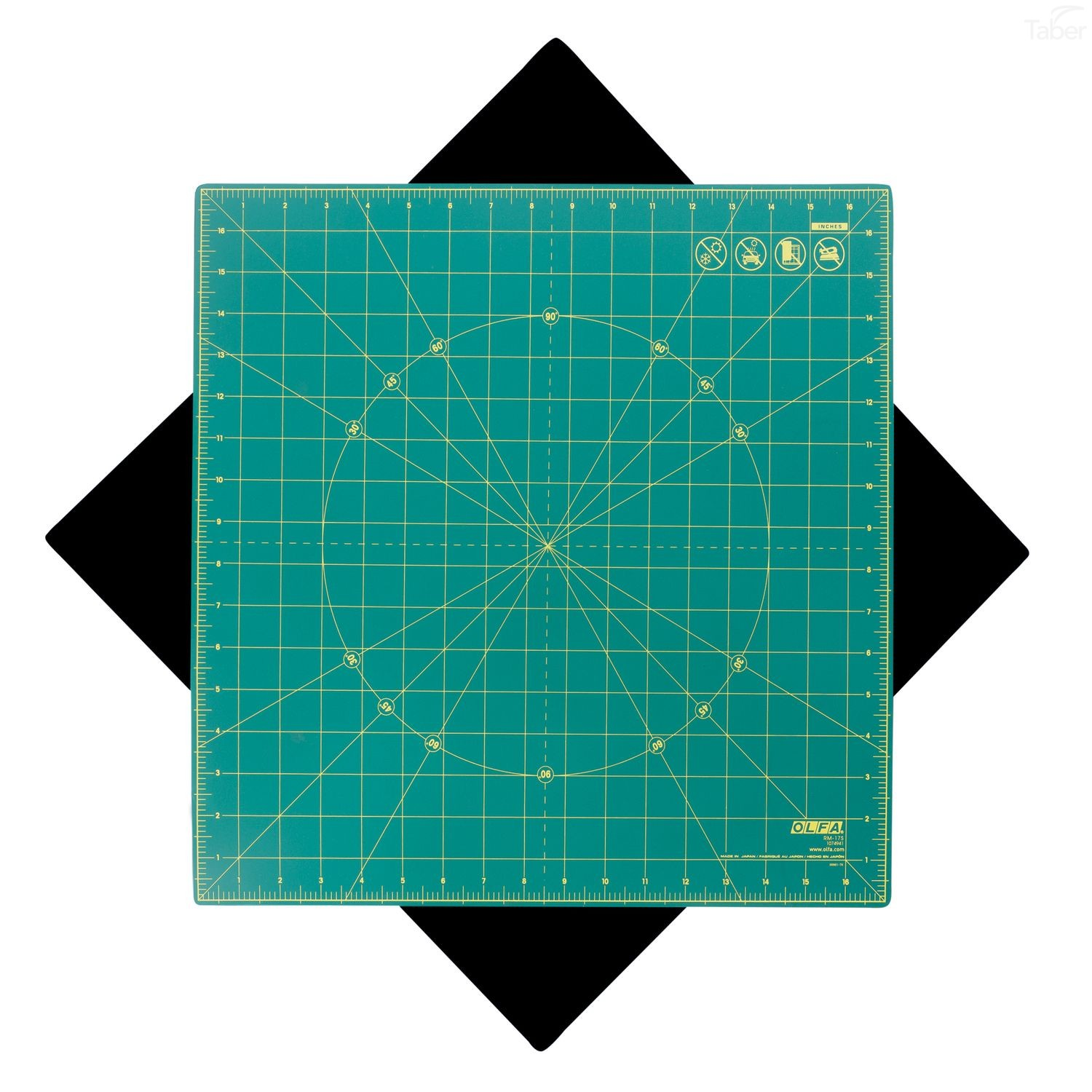 "Olfa RM-17S 17"" Square Rotating Cutting Mat"