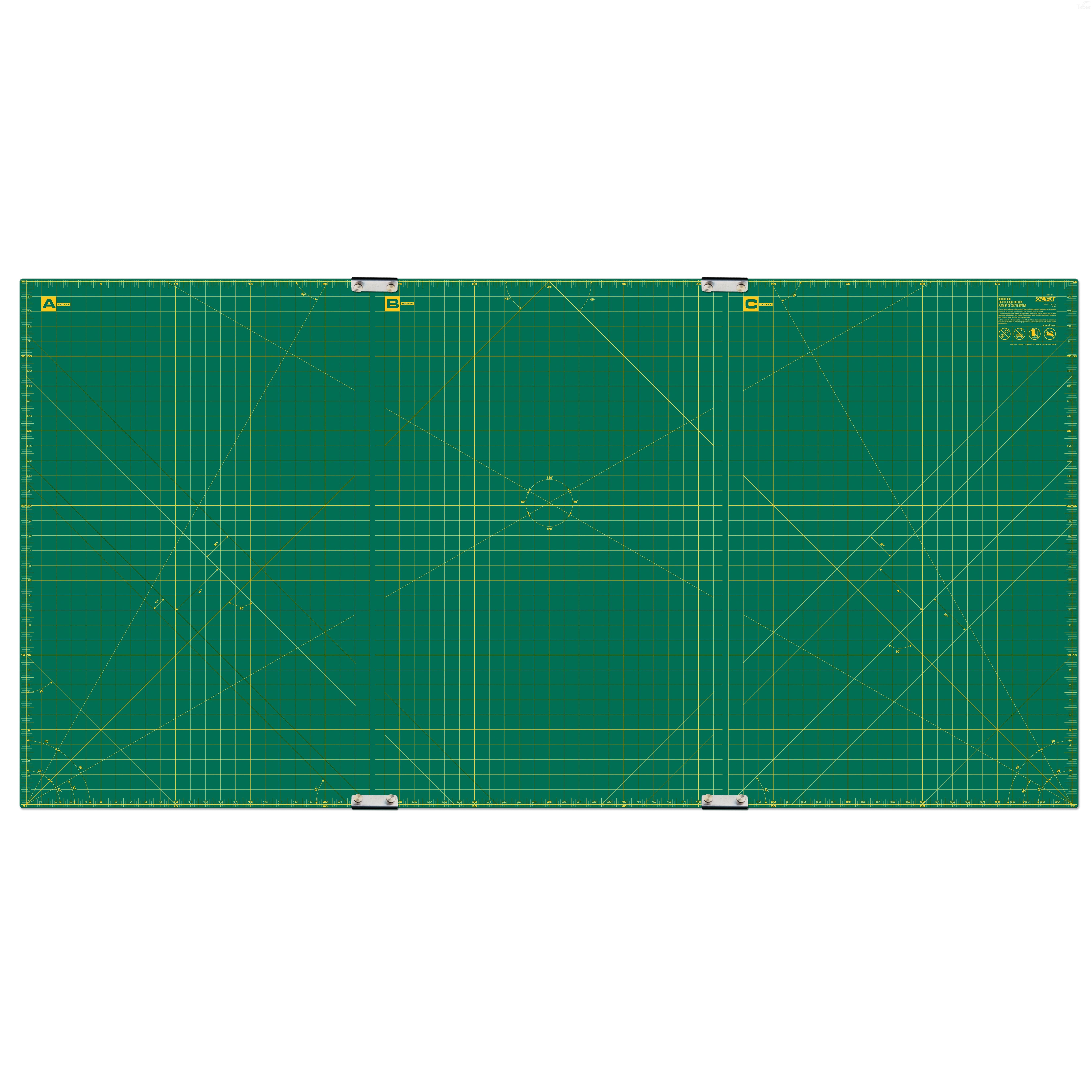 "Olfa RM-CLIPS-3 Continuous Grid Cutting Mat Set 35"" x 70"""