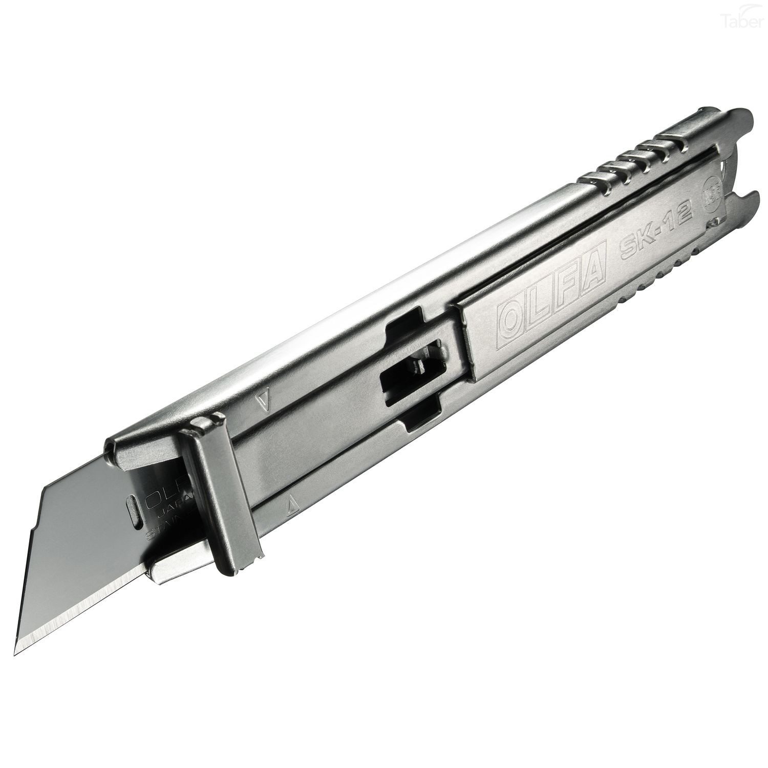 Olfa Stainless Steel Self Retracting Safety Knife (SK-12, 1117956) Side Angle