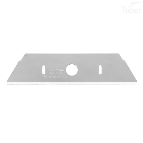 OLFA SKB-2S-R/10B Olfa Stainless Steel Safety Blade, Rounded-10/pk