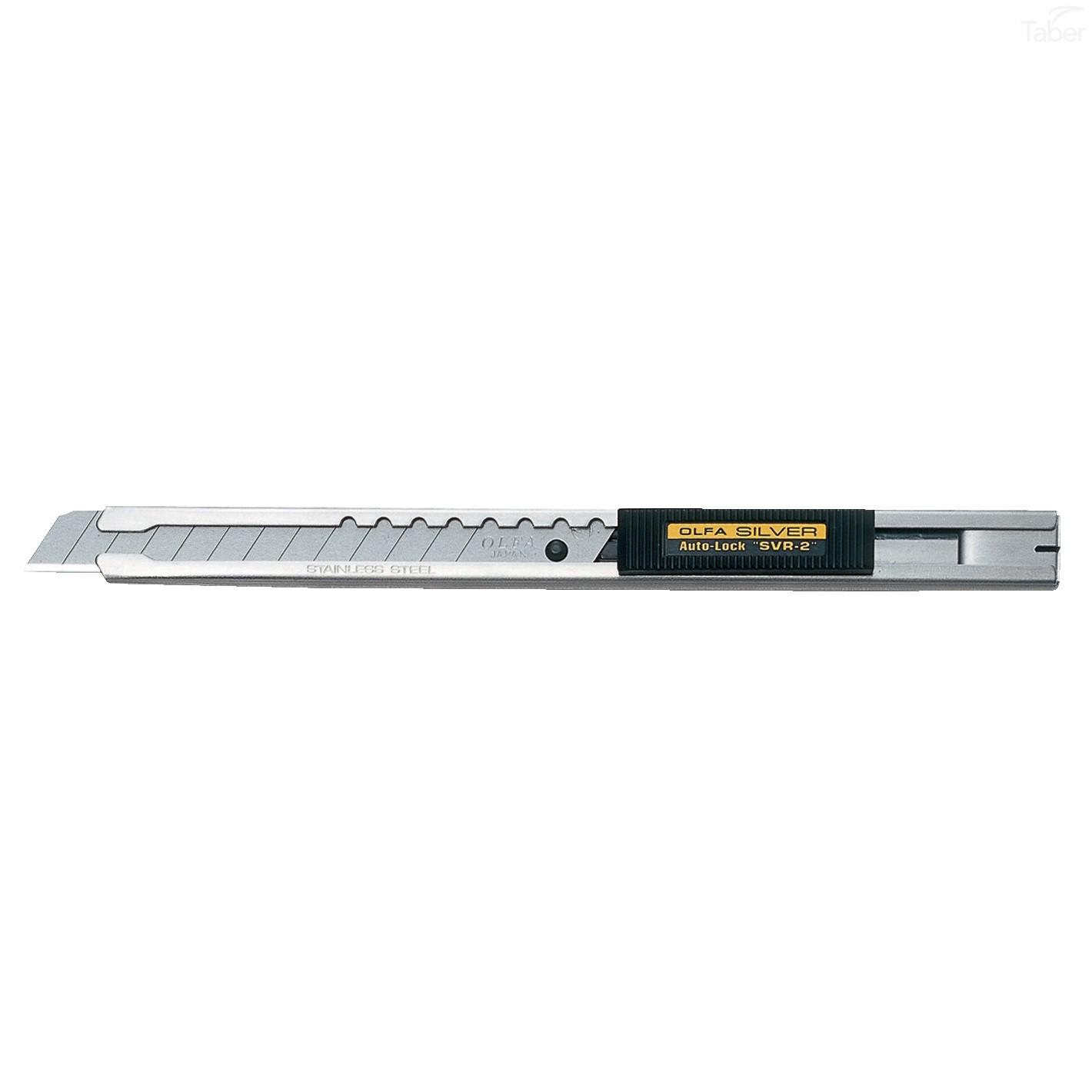 Olfa SVR-2 Silver Auto Lock Stainless Steel Cutter
