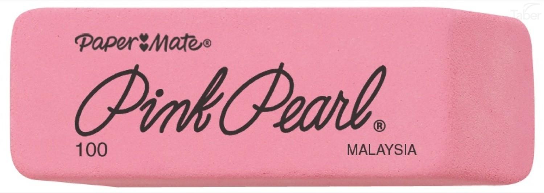 Paper Mate Pink Pearl Rub Eraser, Medium 100