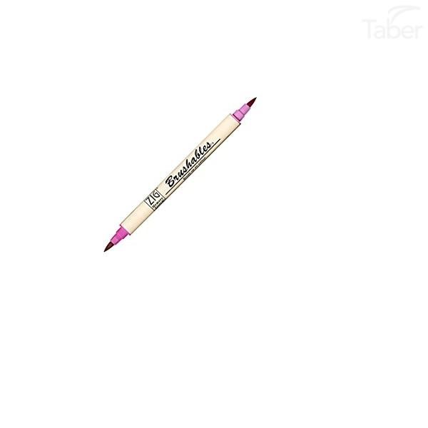 Zig Scroll & Brush Marker, Pure Pink