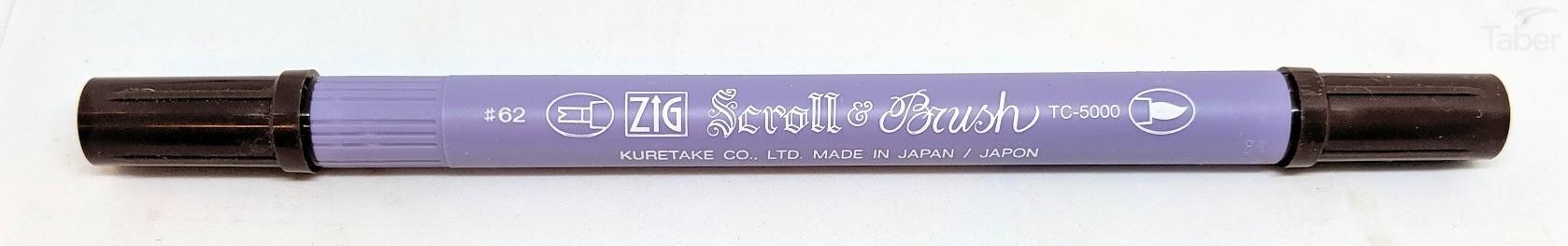 Zig Scroll and Brush Marker, Chocolate