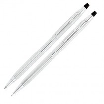 AT Cross Classic Century Lustrous Chrome Ballpoint Pen and 0.5mm Pencil Set