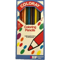 Faber COLORAY Coloring Pencils 7 inch 12 Color Set