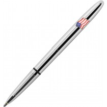 Fisher Bullet Space Pen, Chrome w/ American Flag