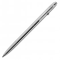 Fisher Shuttle Space Pen, Chrome, Med Black Ink