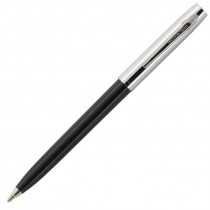 Fisher Space Pen Plastic Barrel Cap-O-Matic Black, Chrome Cap
