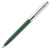 Fisher Space Pen Plastic Barrel Cap-O-Matic Green, Chrome Cap