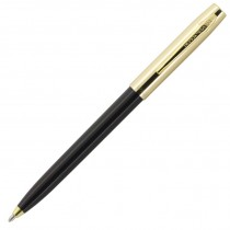 Fisher Space Pen Plastic Barrel Cap-O-Matic Black, Brass Cap