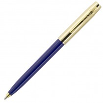 Fisher Space Pen Plastic Barrel Cap-O-Matic Blue, Brass Cap