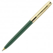 Fisher Space Pen Plastic Barrel Cap-O-Matic Green, Brass Cap