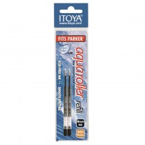 Itoya Aqua Roller Refill, 1.0mm, 2 pack, Black