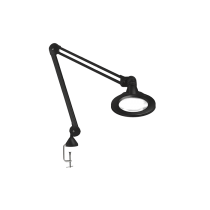 "Luxo KFM LED, 45"" arm, 3-D lens, and edge clamp mount, black"