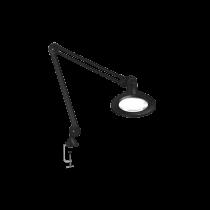 "Luxo KFM LED ESD, 45"" arm, 3-D lens, and edge clamp mount, black"
