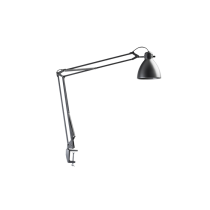 Luxo L-1 task light with edge clamp, Silver Grey