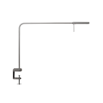 Luxo Ninety LED task light with edge clamp, Grey Gloss