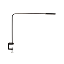 Luxo Ninety LED task light with edge clamp, Metallic Black Gloss