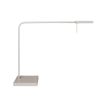 Luxo Ninety LED task light with table/desk base, White Gloss