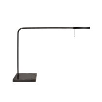 Luxo Ninety LED task light with table/desk base and USB port, Metallic Black Gloss