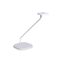 Luxo Trace LED task light with table/desk base and USB port, White