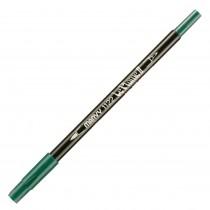 Marvy Le Plume II Double Ended Watercolor Marker, Evergreen