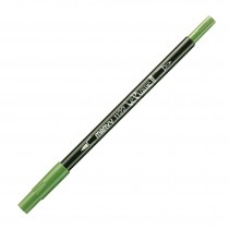 Marvy Le Plume II Double Ended Watercolor Marker, Olive Green