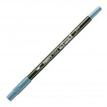 Marvy Le Plume II Double Ended Watercolor Marker, Steel Blue