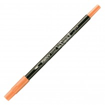 Marvy Le Plume II Double Ended Watercolor Marker, Coral Pink