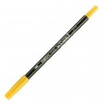 Marvy Le Plume II Double Ended Watercolor Marker, Brilliant Yellow