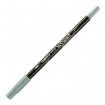 Marvy Le Plume II Double Ended Watercolor Marker, Aqua Grey