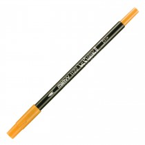 Marvy Le Plume II Double Ended Watercolor Marker, Pumpkin