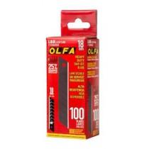 Olfa LBB-CP 100 Contractor UltraSharp Heavy-Duty 18mm Snap-Off Blade - 100/pk