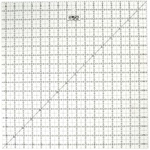 """Olfa QR-16S 16 1/2"""" Square Acrylic Ruler Non-Slip, Frosted"""
