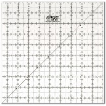 """Olfa QR-9S 9 1/2"""" Square Acrylic Ruler Non-Slip, Frosted"""