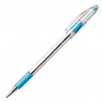 Pentel RSVP Ball Point Pen, Med Sky Blue