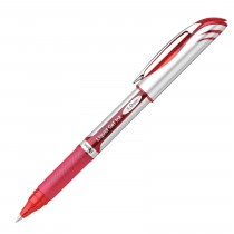 Pentel EnerGel Deluxe Refillable Liq Bold Metal Tip, Red