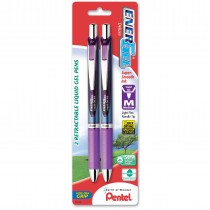 Pentel EnerGel Deluxe RTX Retract Refillable Liq Med Needle Tip 2/pk Violet