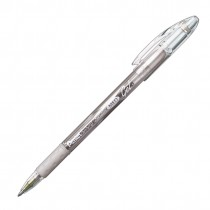 Pentel Sunburst Gel Ink Roller- Med Silver