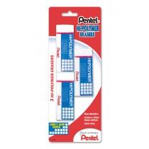 Pentel ZEH-10BP3-K6 Hi-Polymer Block Eraser, Large White 3-Pk