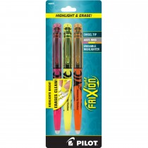 Pilot FriXion Light Erasable Highlighter Assorted  3 Pk
