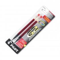 Pilot BG27R G2 Gel Ink Refills, Fine, Red