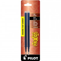 Pilot FriXion Refill, Fine Point, Navy, 2pk