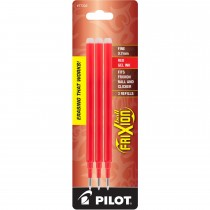 Pilot FriXion Refill, Fine Point, Red, 3pk