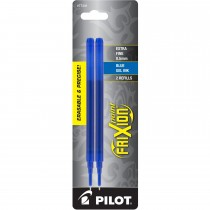 Pilot FriXion Refill, XF Point, Blue, 2pk